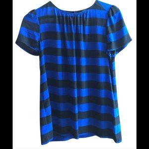 Pippa blue and black 100% silk shirt size 12